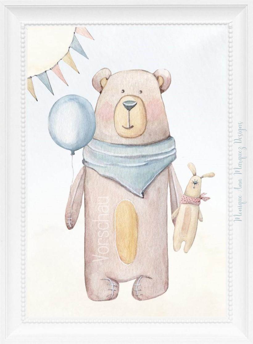 Premium Schnullerkette mit Namen Pandabär Variante für Mädchen und Jungen